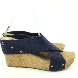 New Lucky Brand Platforms Size 10 40 Miller2 Navy